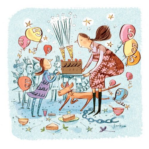 Birthday celebration illustration for Sunday Telegraph