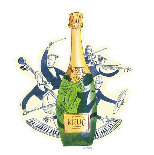 Saturday Telegraph kurg wine section illustration