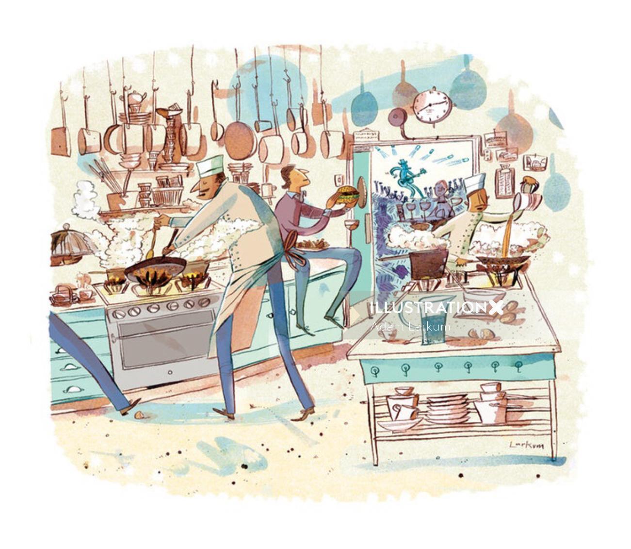 Editorial illustration for Gulfshore Life magazine