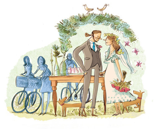 Editorial art of wedding for Sunday Telegraph