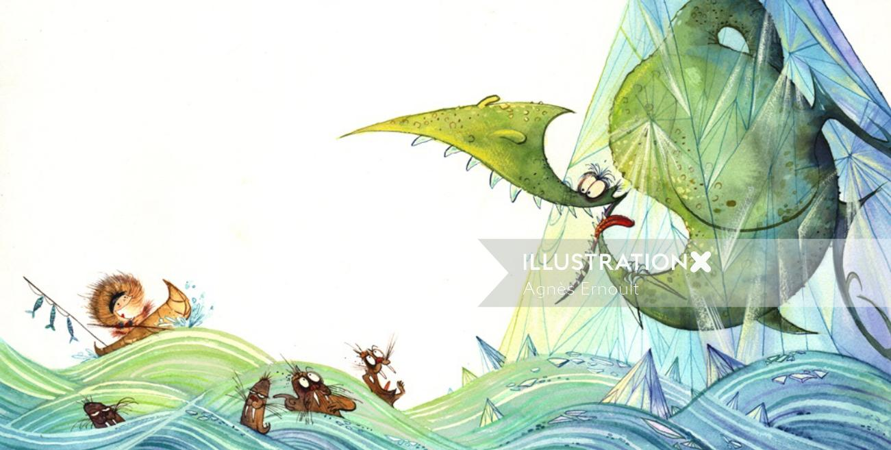 Marmaille et Compagnie children's book graphic cover