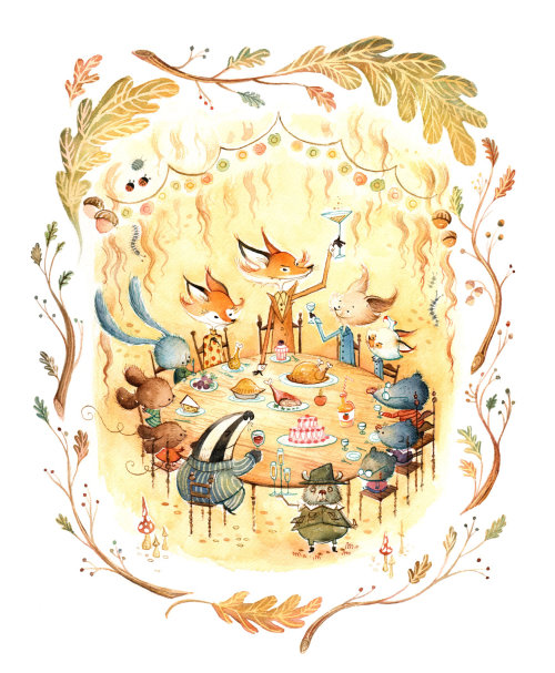 Animals character design Tribute to Fantastic Mr Fox