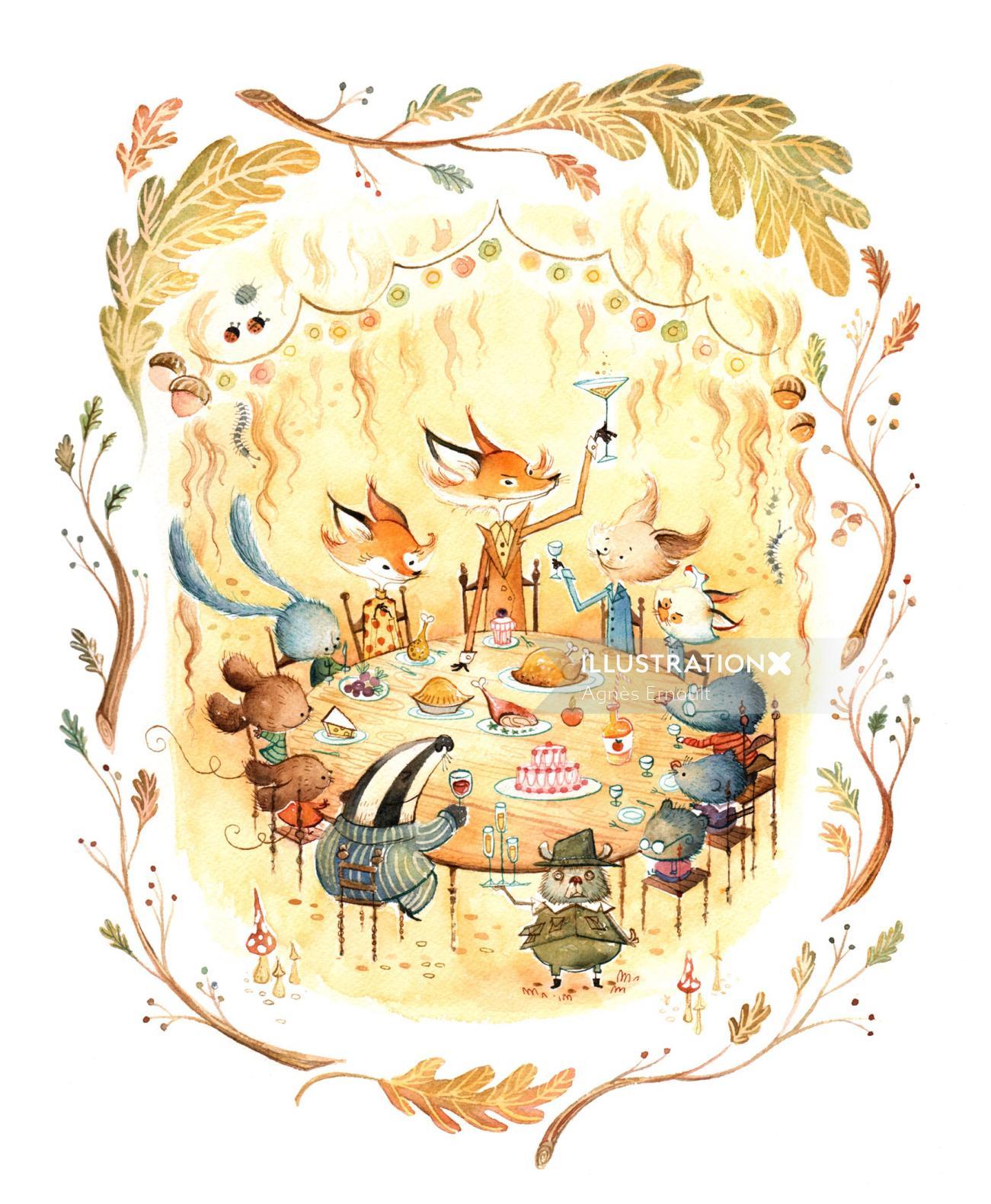 Animals character design Tribute to Fantastic Mr Fox