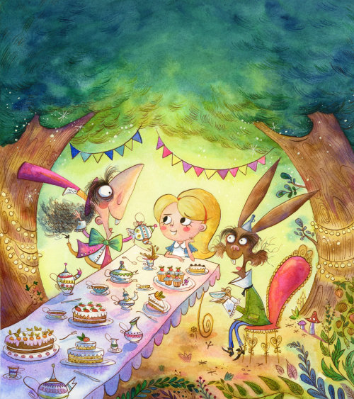 cartoon Ccover of alice in wonderland for Hinkler Books