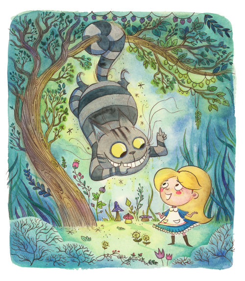 Fantasy children books cover Alice in wonderland