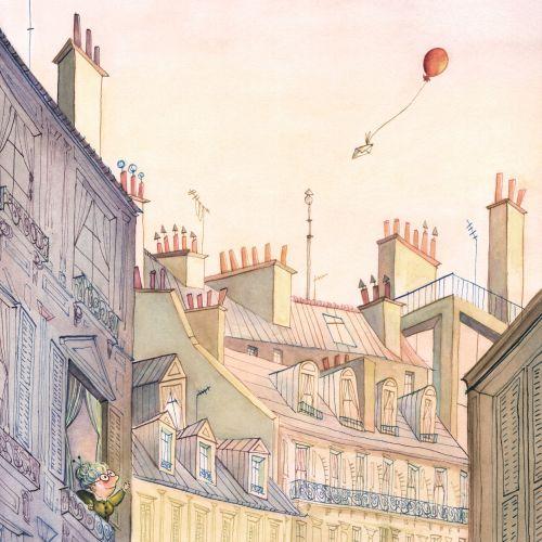 Summer in Paris Watercolor painting