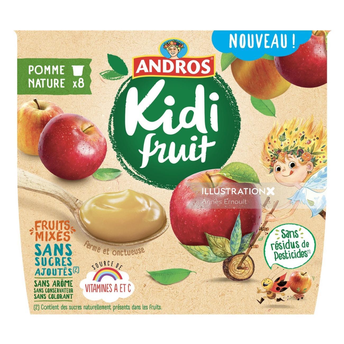 Poster design of Andros kidi fruit