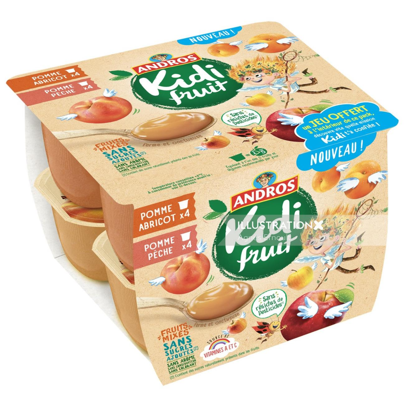 Packaging illustration of Andros kidi fruit