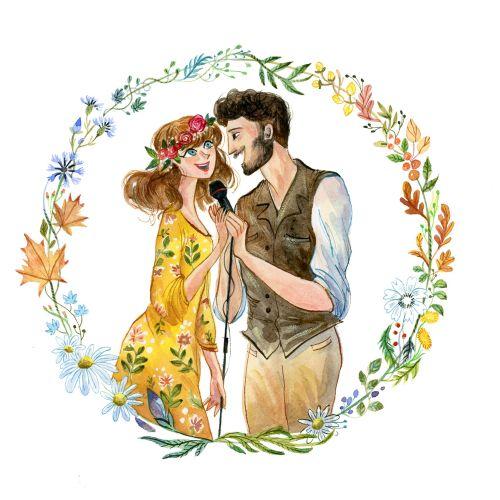 Character design of wedding singers