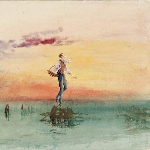 Walking on water oil painting