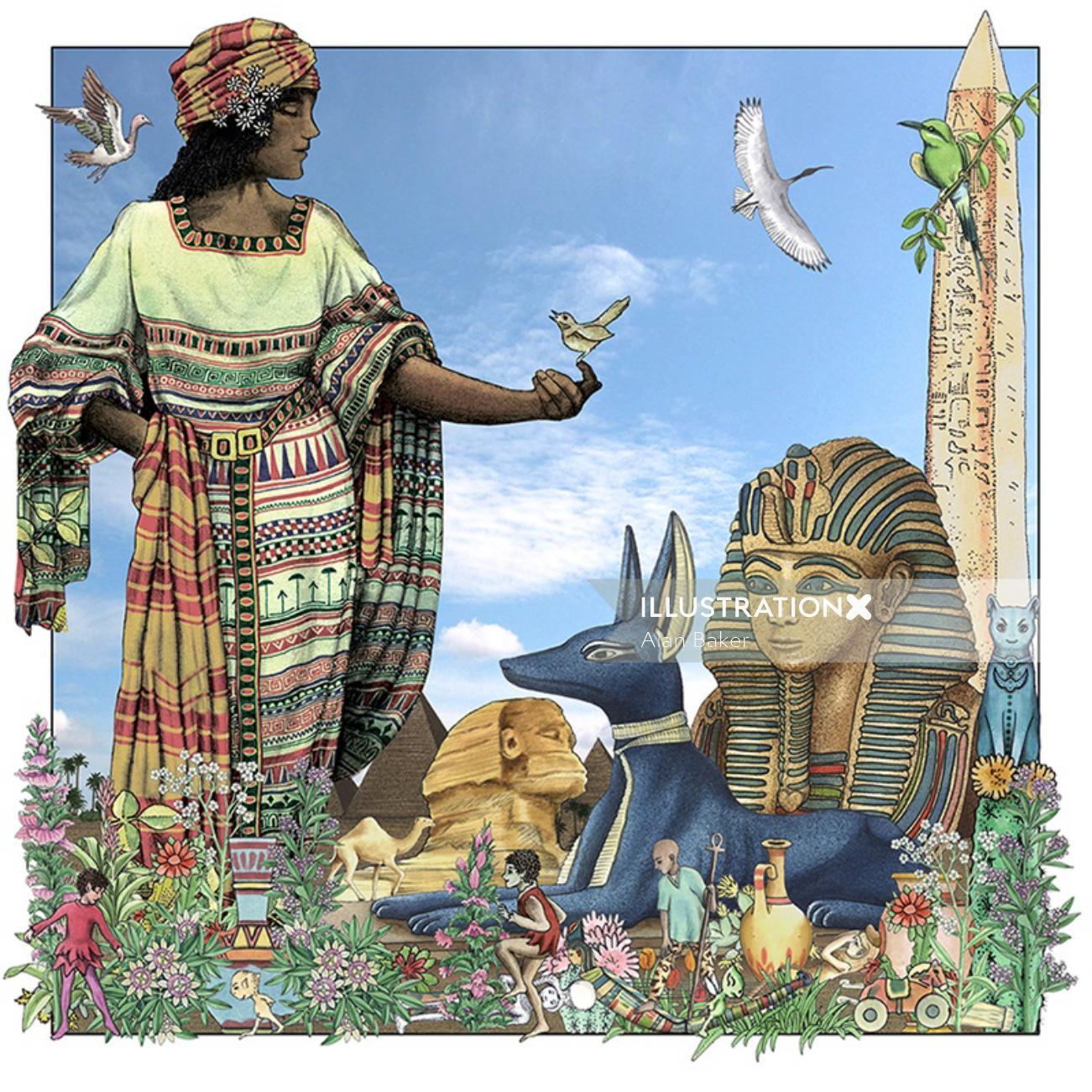 Historical artwork of Egypt