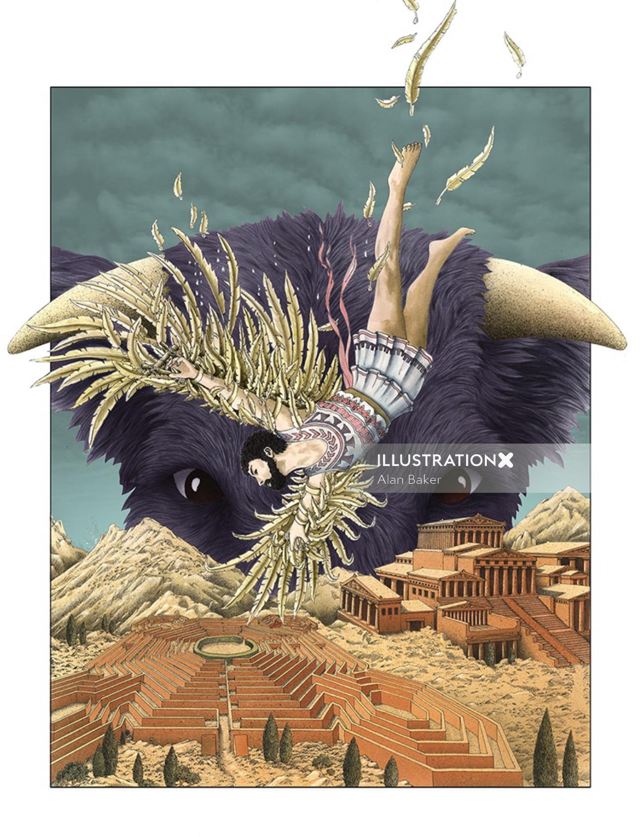 Illustration of Icarus
