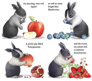 Rabbit's eating an apple