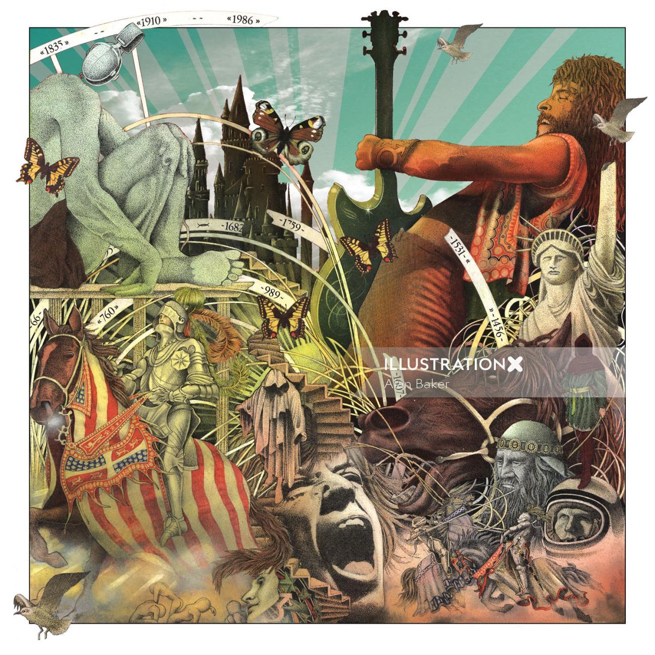 Fantasy illustration by Alan Baker