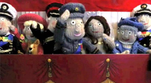 Army puppets - An illustration by Alan Baker