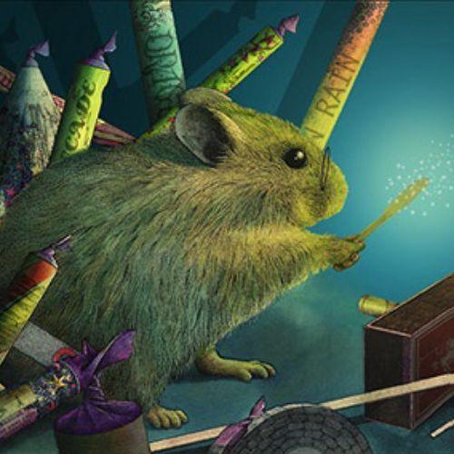 Gif of Hamster amongst fireworks