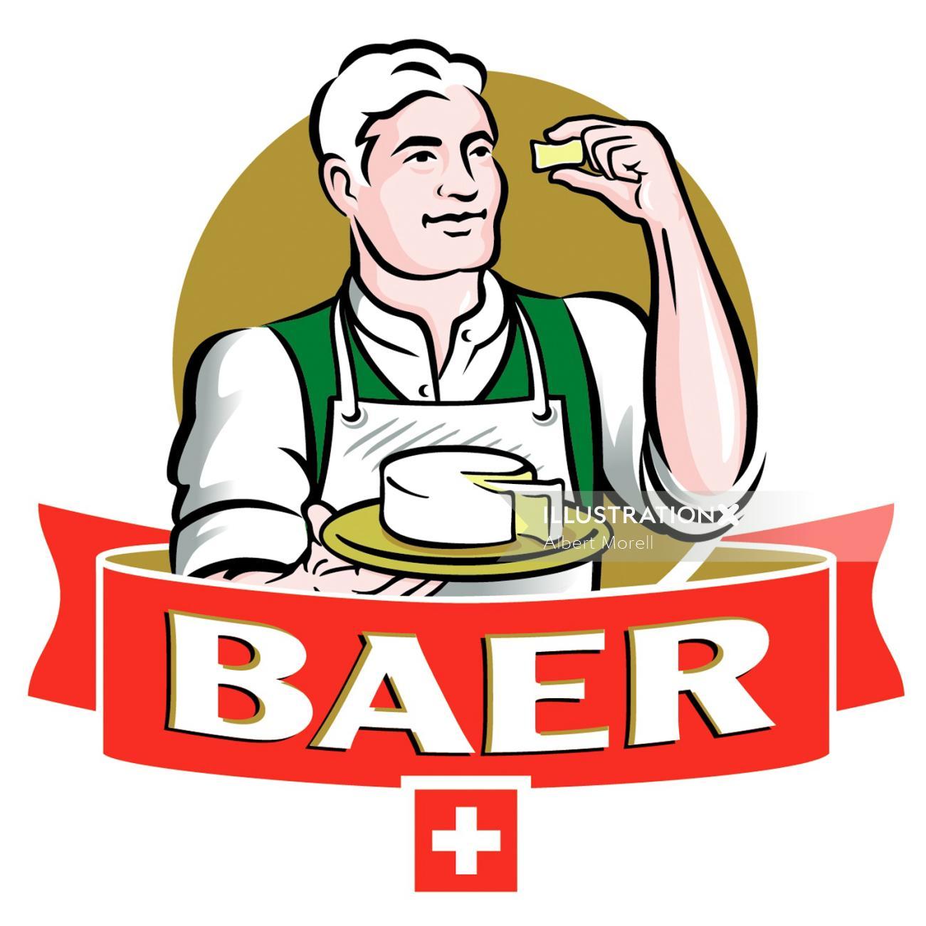 Baer Cheese Maker Logo