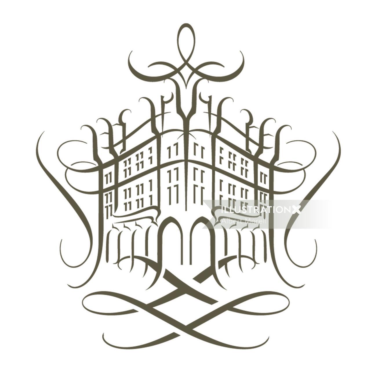 Fragrance house Line art logo