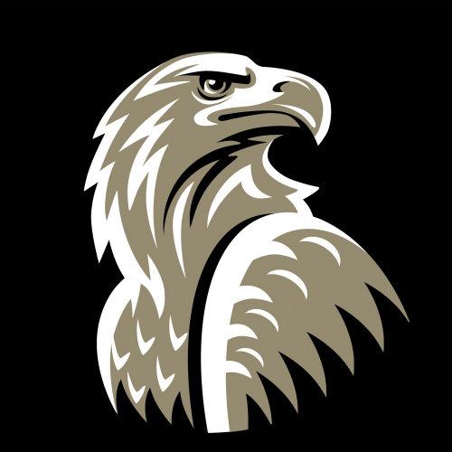 咖啡品牌鹰徽标