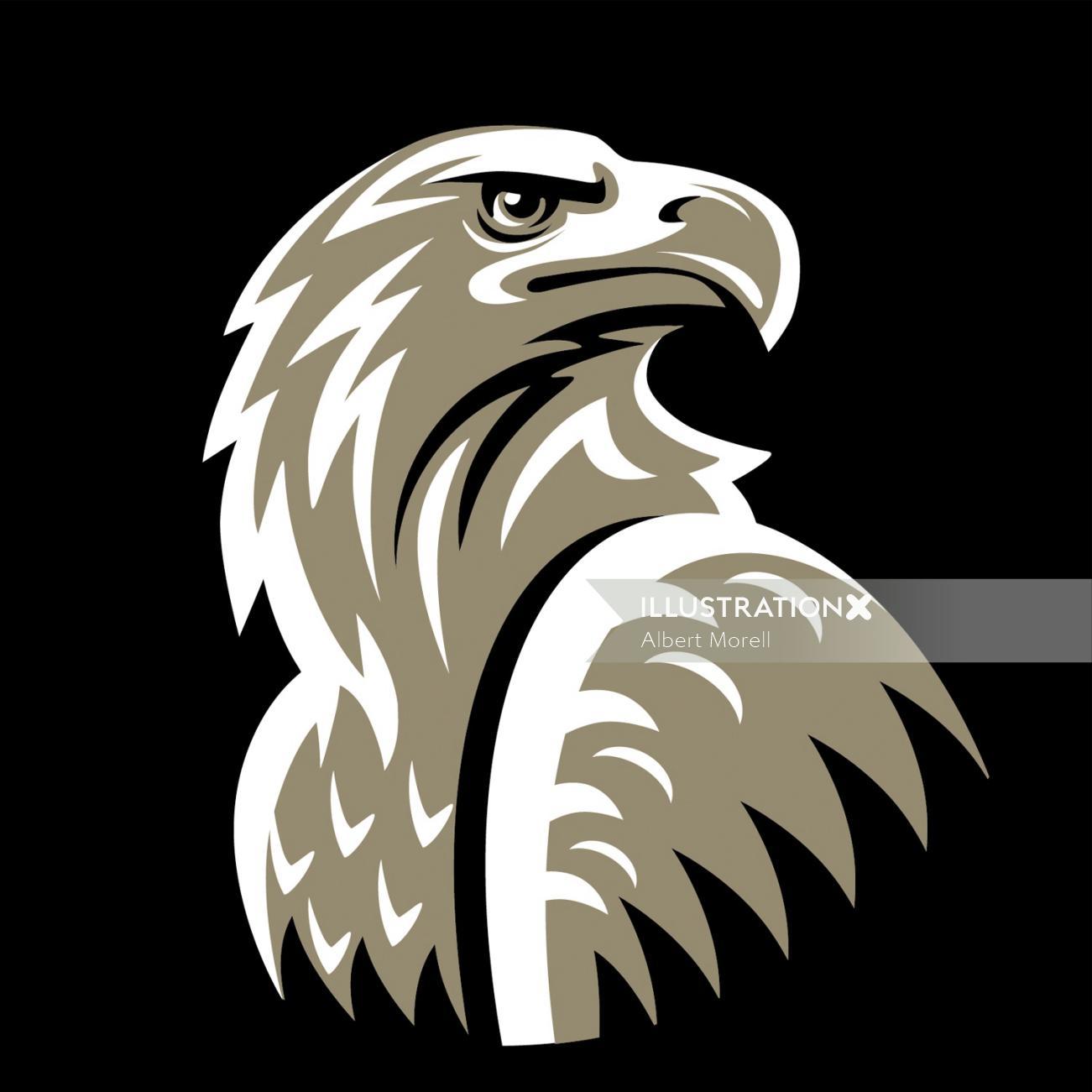 Coffee Brand Eagle Logo