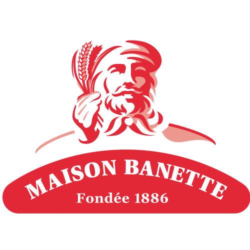 Maison Banette面包店品牌标识图标的矢量艺术