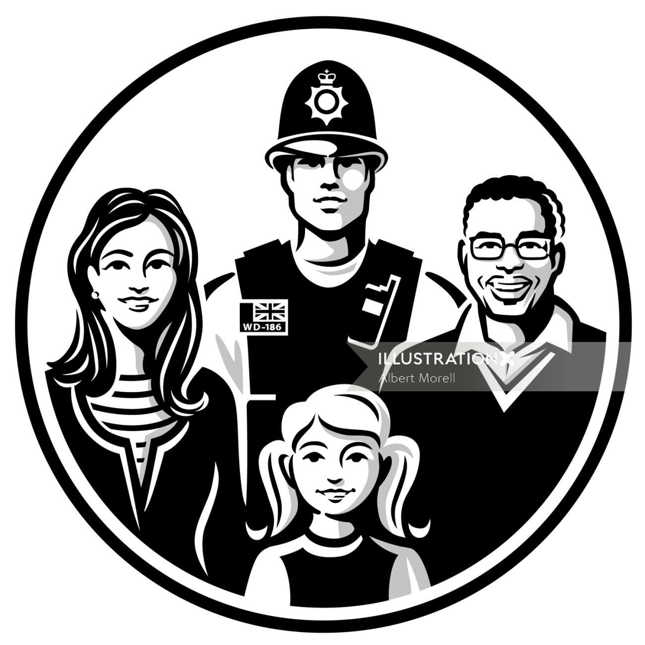 British neighbourhood watch Icon