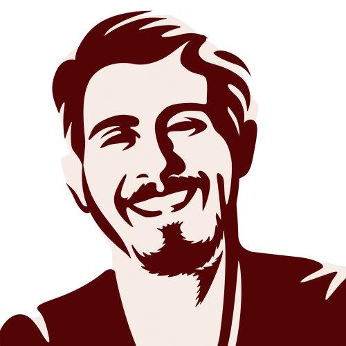 一个微笑的男人的图标