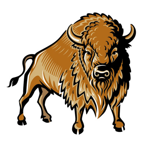 Bison Logo for Vodka