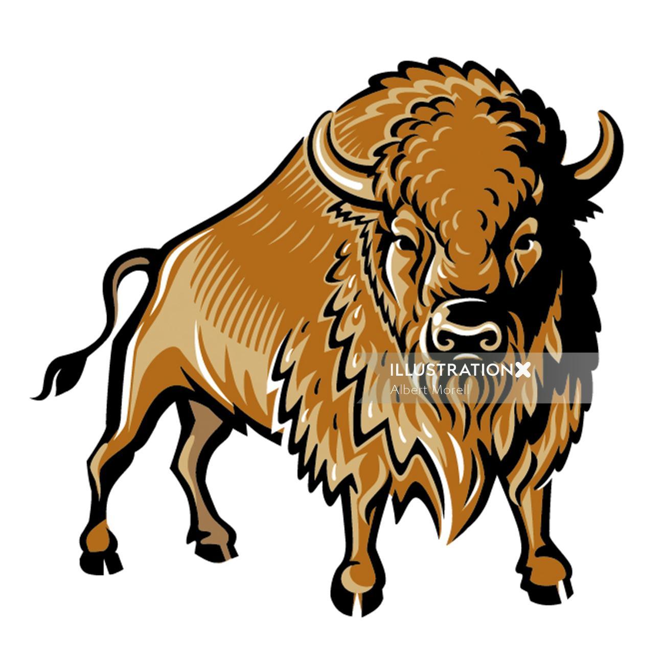 Bison Logo for Vodka