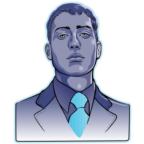 穿着西装的男人的肖像