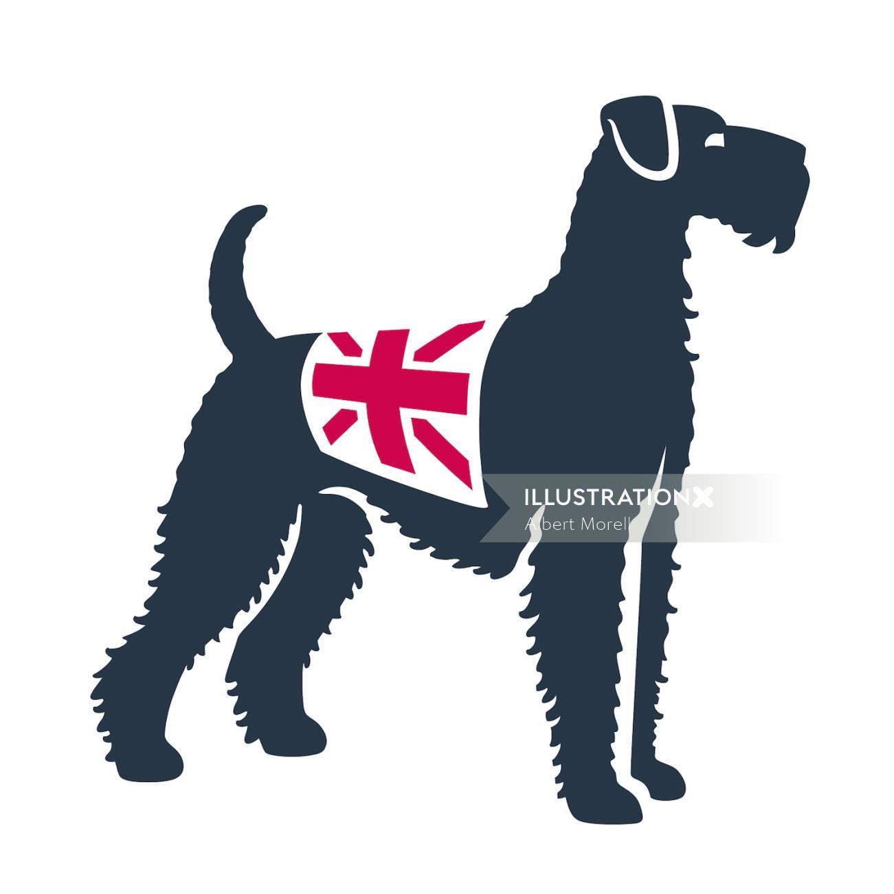 Animal vector illustration of dog