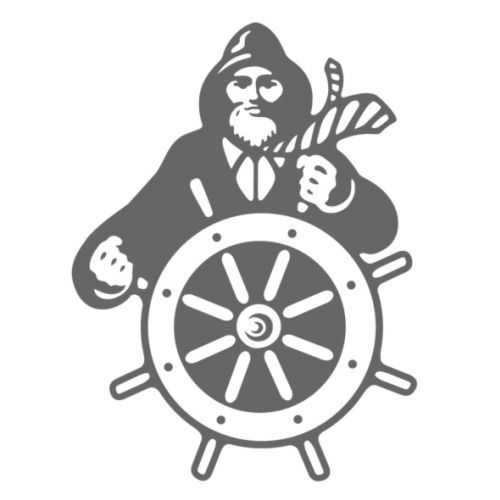 Ship wheel Logo Illustration