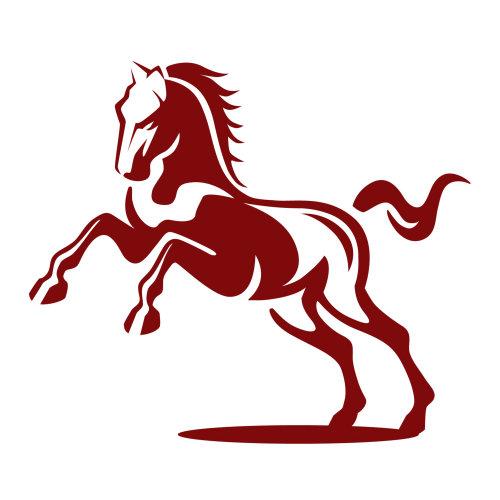 马的徽标插图