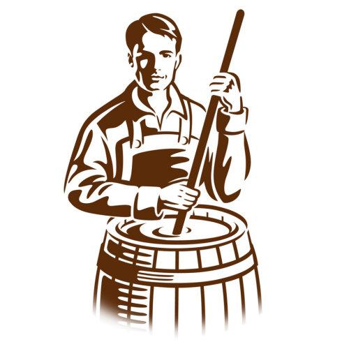 传统啤酒的插图
