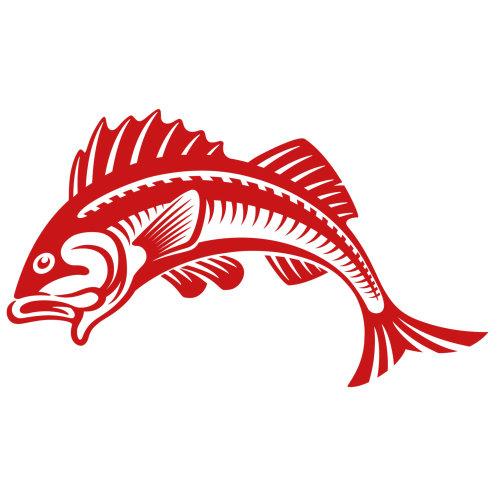餐厅鱼徽标
