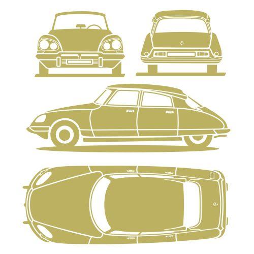 Citroen car blue print design