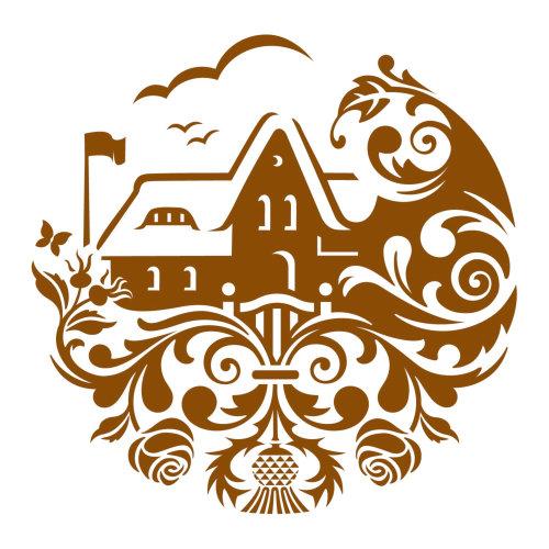 乡间别墅徽标