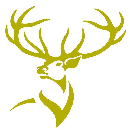 Green color stag illustration