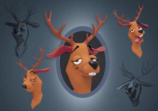 Deer Toon Character