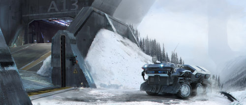 3d illustration of Ice vehicle at A13