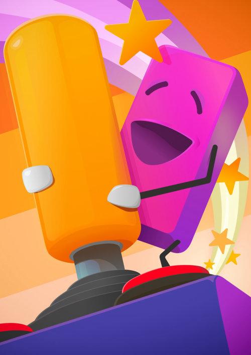 3d cartoon character with joystick