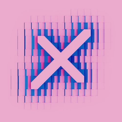 3d lettering X