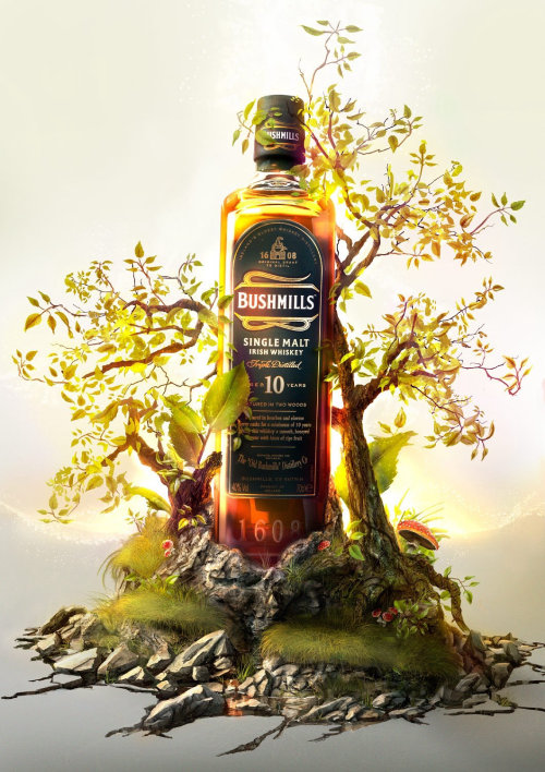 3D CGI Illustration For Bushmills Whiskey