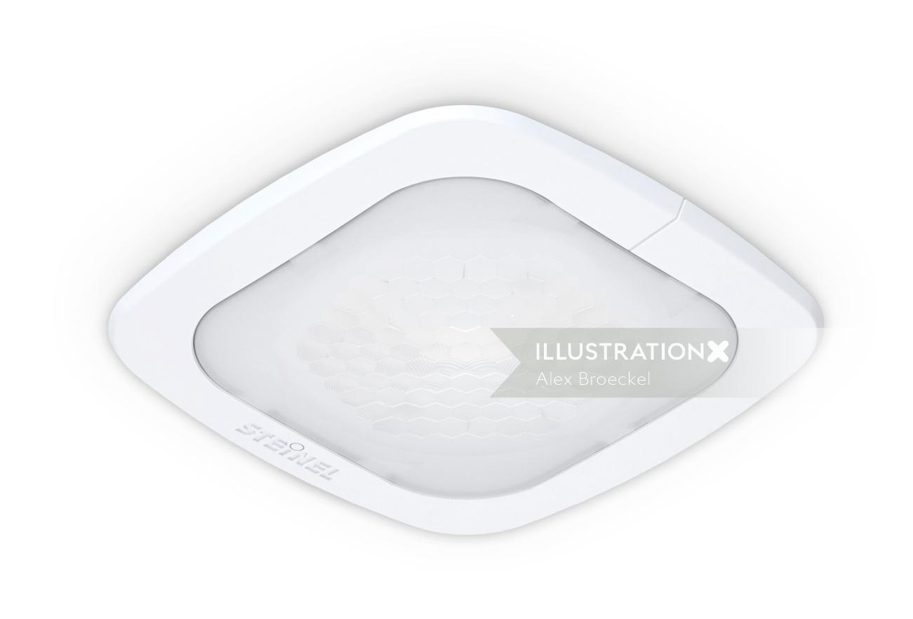 Drawing of a ceiling light