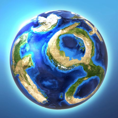 Social media logos with global shape