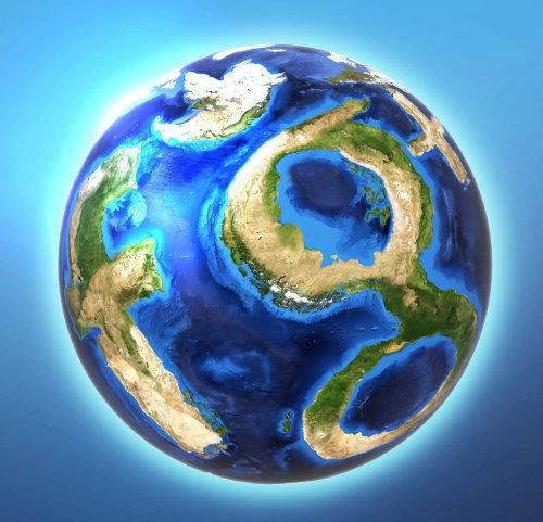 Logotipos de redes sociales con forma global