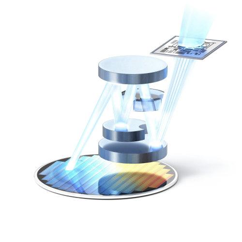 3d illustration of prism lights