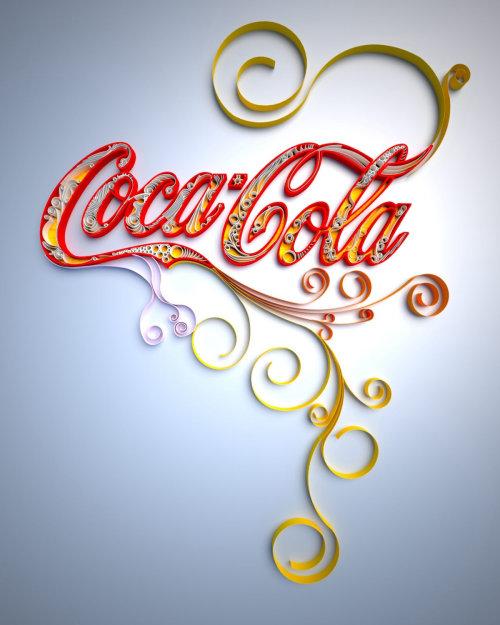 Conception de lettrage Coca-Cola
