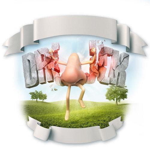 Illustration CGI 3D pour vaporisateur nasal