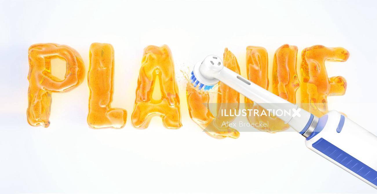 3d lettering plaque cleaning